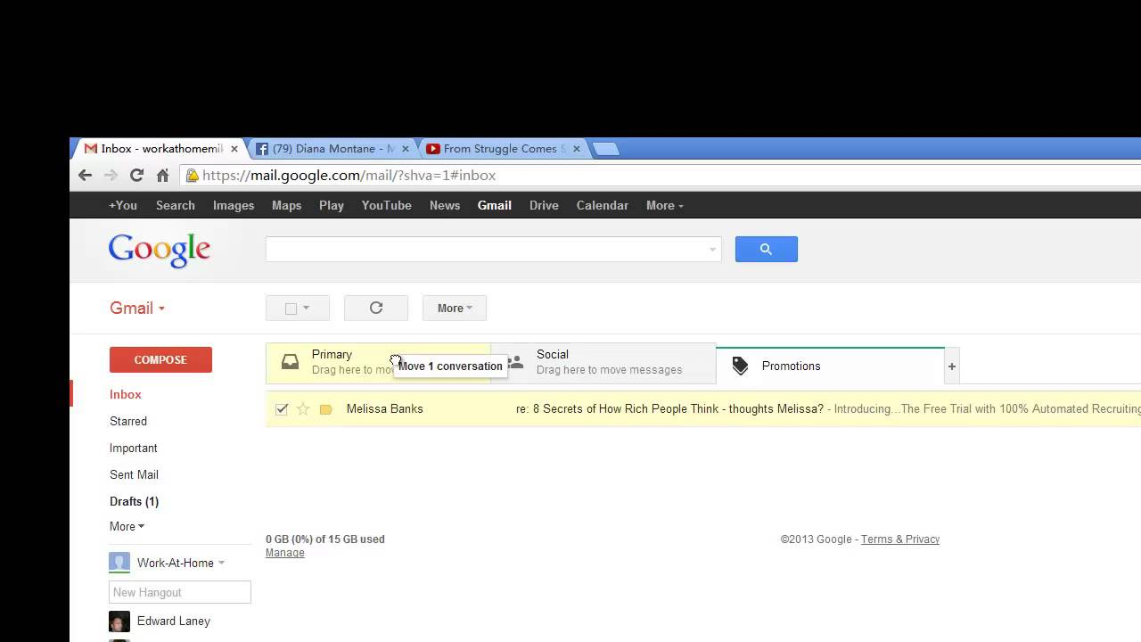 in gmail how to move emails from inbox to labels