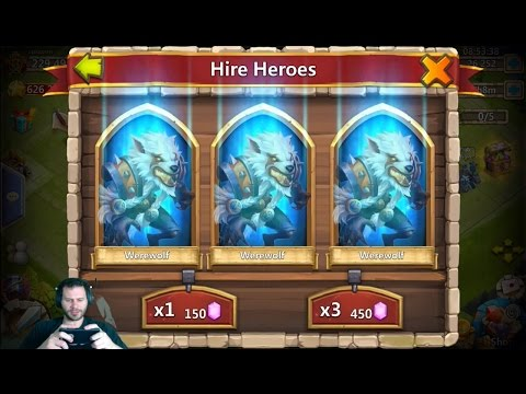 Unknown Rolling 55,000 Gems For GunSlinger Owned By IGG Castle Clash