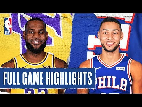 [Highlights] Lebron passes Kobe on the all time scoring list. Lakers vs Sixers Highlights