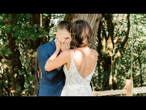 Kari & Kyle // Ridgefield, Wa Wedding Highlight Video Best First Look Ever
