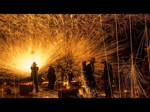 'Iron fireworks' usher in Lunar New Year in north China