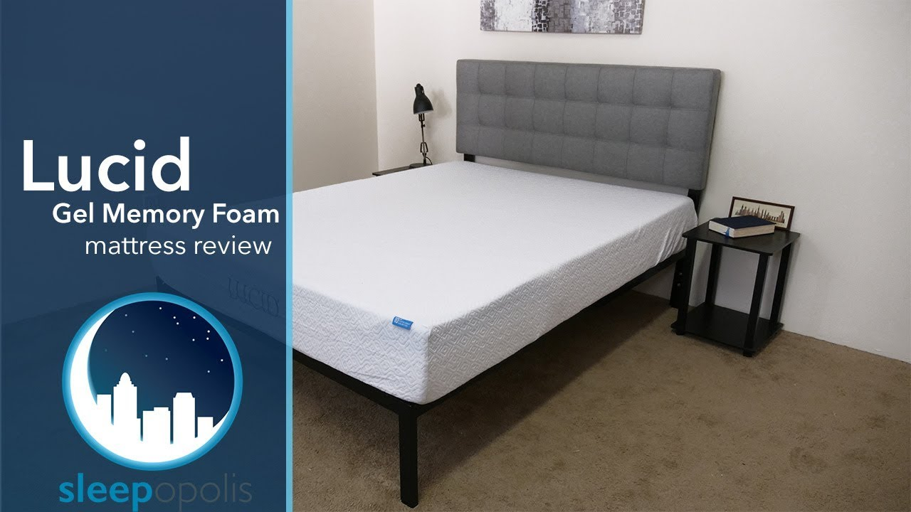 Lucid Gel Memory Foam Mattress Review Youtube