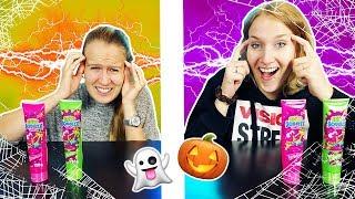 TWIN TELEPATHY HALLOWEEN CANDY Challenge - Haben Nina & Kathi den gleichen Süßigkeiten Geschmack?