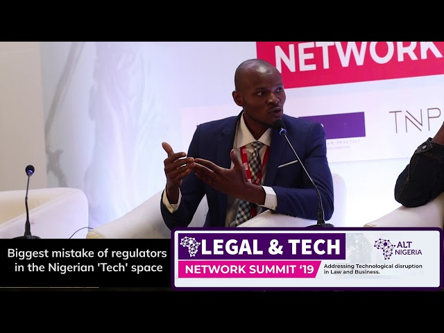Biggest mistake of regulators in the Nigerian 'Tech' Space (ALT Network, Nigeria Summit 2019)