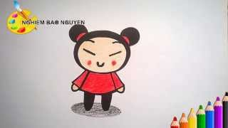 Vẽ Pucca/How to Draw Pucca