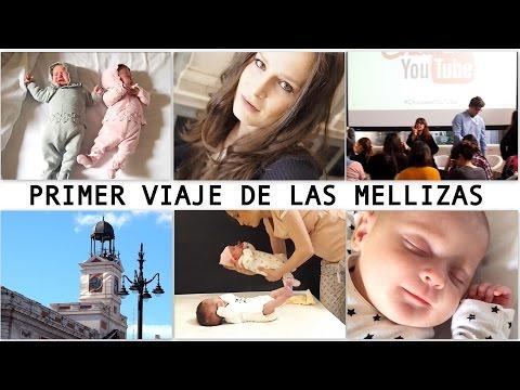 1 MES MELLIZAS / Viajamos solas a Madrid + RUEDA PRENSA CHICAS YOUTUBE