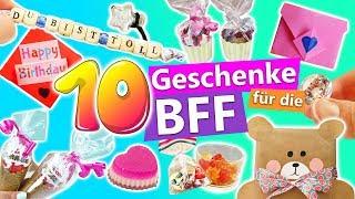 10 süße DIY Geschenke für die BFF | Geschenkideen für die beste Freundin | schnell und einfach |DIY