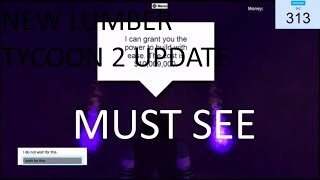 Roblox - New Lumber Tycoon 2 Update (MUST WATCH)