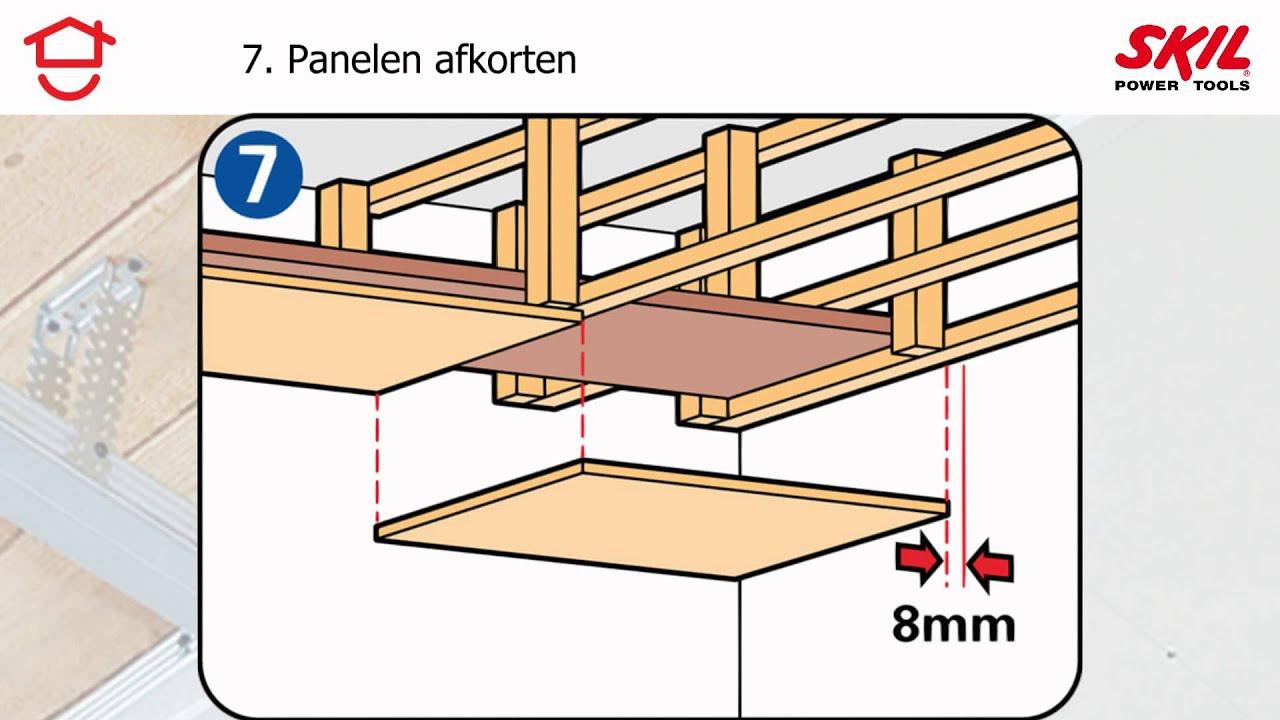 Stappenplan: hoe maak je een verlaagd plafond? - YouTube