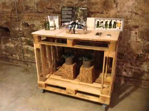 Hacer muebles con palets de madera youtube youtube - Muebles fabricados con palets ...