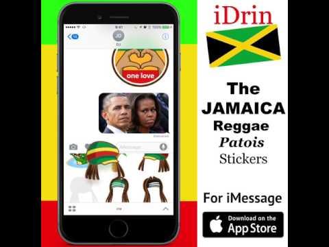 iDRIN -The Jamaican Reggae Patois Emoji   (iMessage * LINE Messenger)