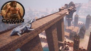 Conan Exiles - Rebuilding the Giant Bridge (Speed Build)