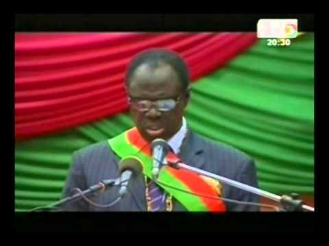Discours de Michel Kafando, le président de la transition, officiellement investi