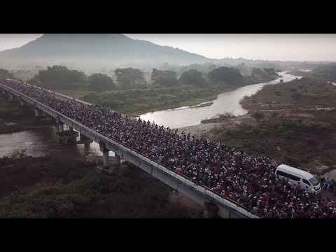 Climate refugees fleeing drought were part of the migrant caravan from Central America.