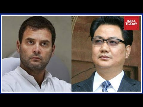 Kiren Rijiju Hits Out At Rahul Gandhi