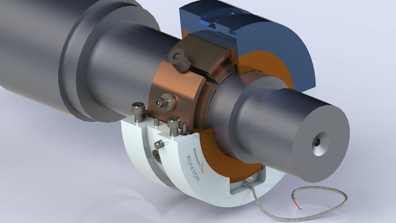 SolidWorks Animation- Tilt Pad Journal Bearing (Ball and Socket ...