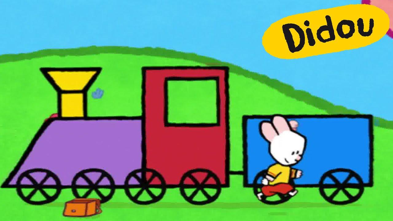 Train et locomotive didou dessine moi un train dessins anim s pour les enfants youtube - Train en dessin ...