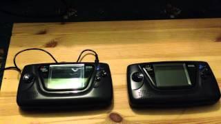Sega Game Gear LED Mod Comparison