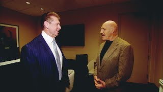 Bruno Sammartino and Vince McMahon share an emotional backstage moment (WWE Network Exclusive)