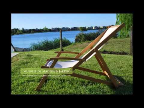 Reposeras de teka muebles de madera y jard n com youtube - Muebles teka jardin ...
