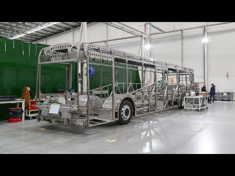 First Australian-made electric bus rolls off production line in Northern Adelaide