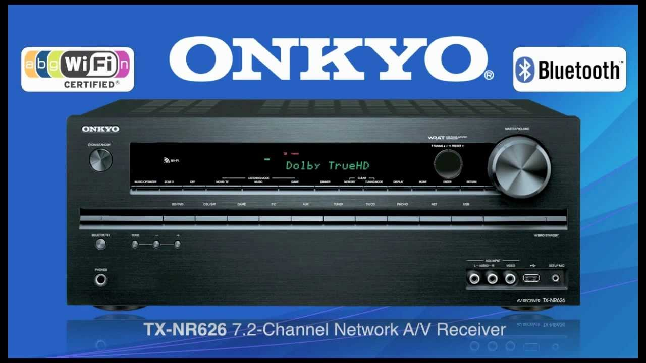 ONKYO TX-NR626 Built-In Wireless & Bluetooth Audio Streaming