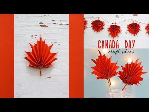 Canada Day Craft Ideas | DIY Maple Leaf