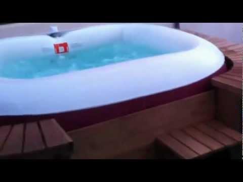 Spa madera Kokido Palm beach - Outlet Piscinas - YouTube