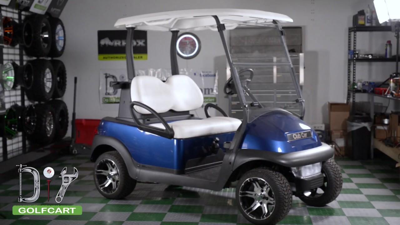 folding windshield installation on club car precedent golf cart [ 1280 x 720 Pixel ]