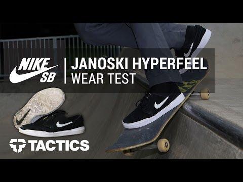 Nike SB Stefan Janoski Hyperfeel Skate Shoe Wear Test Review - Tactics.com