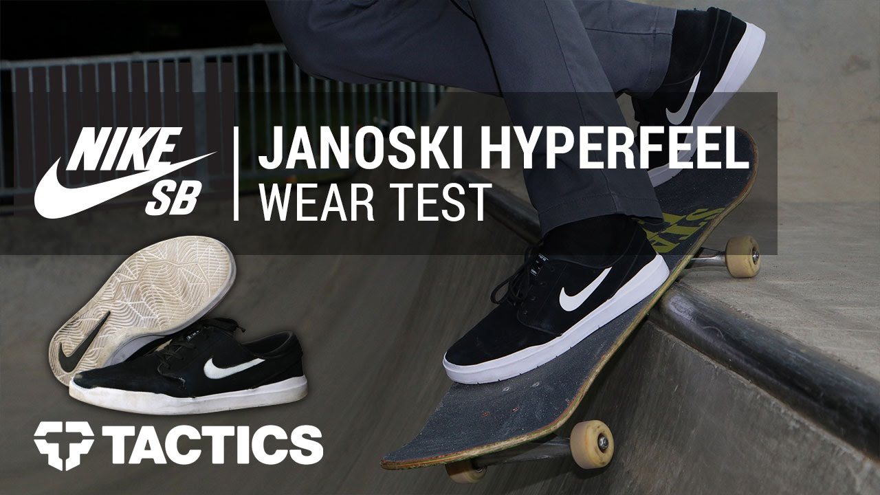 wide varieties no sale tax order online Nike SB Stefan Janoski Hyperfeel Skate Shoe Wear Test Review - Tactics.com