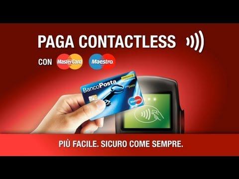 Carta Postamat BancoPosta Maestro PayPass