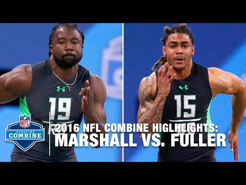 Keith Marshall vs. Will Fuller | 40-Yard Dash Simulcam Race | 2016 NFL Combine