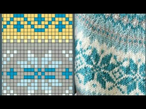 5b4251ea6 beautiful graph knitting patterns for sweater / graph design / - YouTube