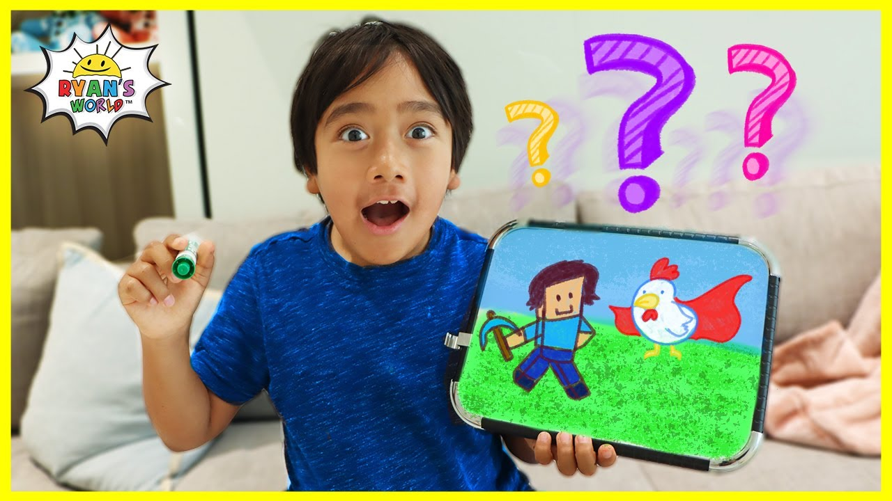 Ryan's Favorite Things Q and A drawing Challenge!