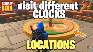 FORTNITE - SEASON 9 -WEEK 8 - VISIT DIFFERENT CLOCKS - HAPPY HAMLET CLOCK IS GLITCHED**solved**