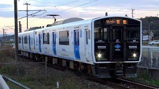 【4K】JR九州BEC819系「DENCHA」(日立IGBT-VVVF)、817系2000番台(日立IGBT-VVVF)、813系 到着・発車シーン集 鞍手駅にて 2019.12
