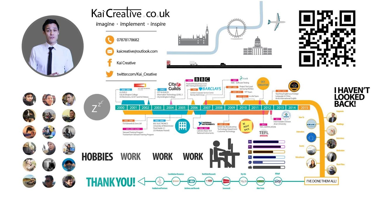 animated cv resume - kai creative