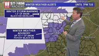 Arctic blast could bring ice, snow to Atlanta area