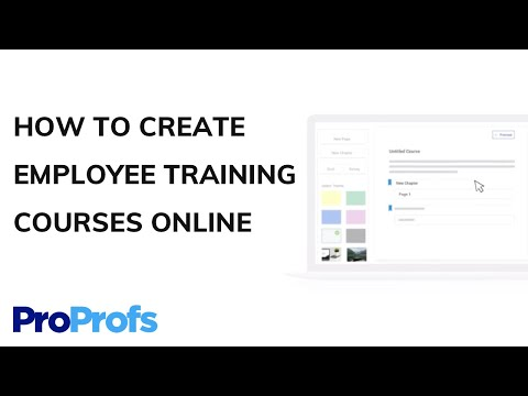 How to Create Employee Training Courses Online