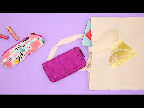 How to DIY a Gold Foil Tote