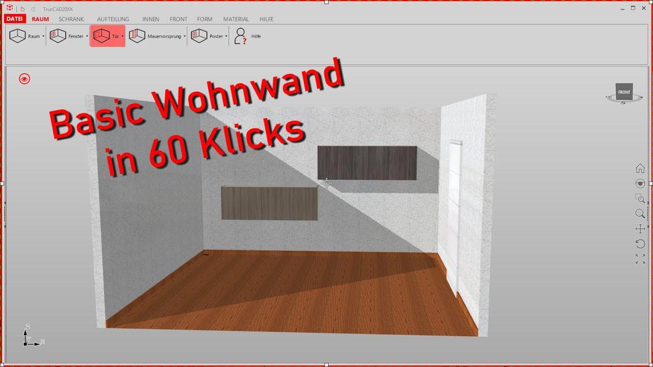 Wohnwand In 60 Klicks Inkl Allen Produktionsdaten Truncad