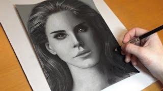 Drawing Lana Del Rey - Speedart