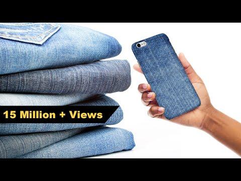 How to Make Mobile cover | DIY Mobile Cover | Denim Hacks | Crafts Junction