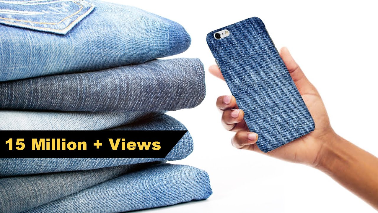 huge discount 95a60 ed862 How to Make Mobile cover | DIY Mobile Cover | Denim Hacks | Crafts Junction
