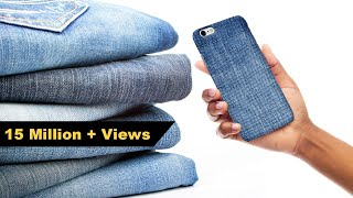How to Make Mobile cover | DIY Mobile Cover | Denim Hacks | Crafts Junction thumbnail