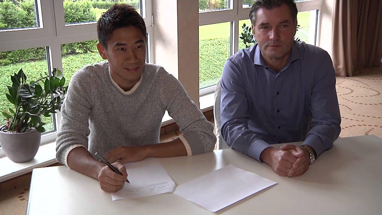 Shinji Kagawa unterschreibt beim BVB