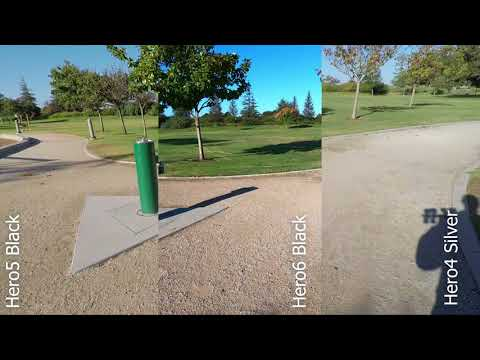 GoPro Hero6 Split Screen Compare vs Hero5 Black and Hero4 Silver - Hero 6
