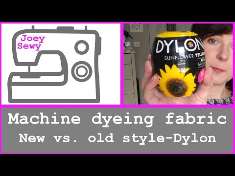 Machine dyeing fabric | new vs. old style Dylon