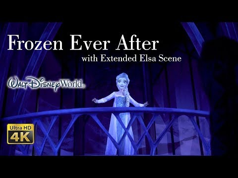 2018 Frozen Ever After with Extended Elsa Scene On Ride Ultra HD 4k Low Light POV Epcot